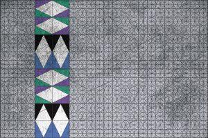 Carta da parati verde azzurro geometrico