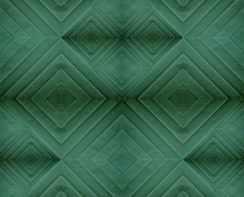 carta da parati verde rombi stile geometrico