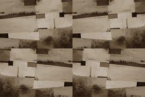Carta da parati astratto geometrico beige