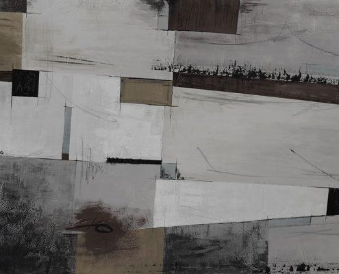 Carta da parati astratto-geometrico beige grande