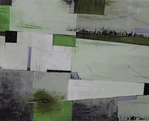 Carta da parati astratto geometrico verde