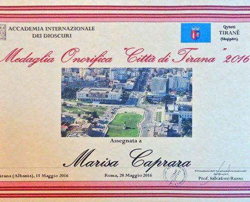 Premio Tirana targa