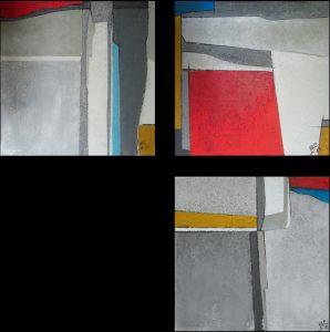 Trittico dipinto Marisa Caprara